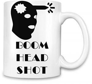 BOOM Headshot! Funny Gamer Tasse de café