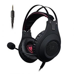 Casque Gaming PS4, NUBWO N2 Casque Gaming Stéréo Filaire PC avec Micro à Réduction du Bruit, Casque Over-Ear pour PC, MAC, PlayStation 4, Xbox One, Android et iPhone-Noir