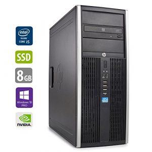 PC Gamer Multimédia Unité centrale – HP Elite 8300CMT – Nvidia Geforce GTX 1050 -Core i5-3470@3,2GHz-8 Go RAM – 1To HDD – 240Go SSD – Lecteur DVD – Win 10 PRO (Reconditionné Certifié)