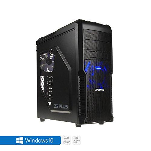 Sedatech PC Gamer Advanced AMD Athlon II 845 4x 3.5Ghz (max 3.8Ghz), Geforce GTX 1050Ti 4Go, 8 Go RAM DDR3, 250 Go SSD, 1 To HDD, USB 3.0, Wifi, CardReader, HDMI2.0, Résolution 4K, DirectX 12, Alim 80+. Unité centrale avec Windows 10 64 Bit