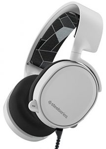 SteelSeries Arctis 3, Casque Gaming, Toute la plateforme, PC / Mac / PlayStation 4 / Xbox One / Nintendo Switch / Android / iOS / VR – Blanc
