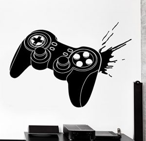Wall Sticker Gaming Joystick Joypad Controller Gamer Vinyl Decal (z3097) by Wallstickers4you