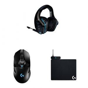 Logitech G933 Casque Gaming sans FilArtemisSpectrum avec son Surround 7.1 2,4GHz pour PC, XboxOne et PS4 + G903 Gaming Souris sans Fil Compatible avec le Système de Charge + Powerplay Tapis de Souris Gaming avec Système de Charge sans Fil