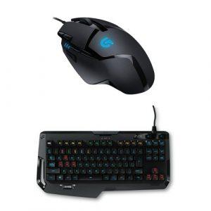 Pack Logitech souris gaming G402 Hyperion Fury + clavier Gaming mécanique G410 Atlas Spectrum