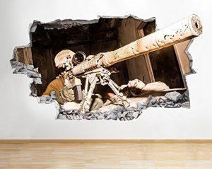 tekkdesigns Z090Poster Autocollant Mural 3D Vinyle, Sniper de l'Armée, Jeu Vidéo Cod, pour Chambres de Garçons (énorme (100x 175cm))