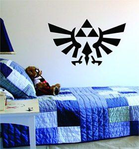 Triforce Zelda Logo Decal Sticker Wall Vinyl Art Design Gamer Cool Funny Game Room by Boop Decals