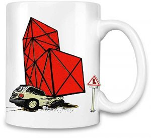 Brandino Jeu de Voiture brisé – Broken Car Gaming Unique Coffee Mug | 11Oz Ceramic Cup| The Best Way to Surprise Everyone on Your Special Day| Custom Mugs by