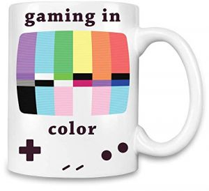 Brandino Jeux en Couleur – Gaming in Color Unique Coffee Mug | 11Oz Ceramic Cup| The Best Way to Surprise Everyone on Your Special Day| Custom Mugs by