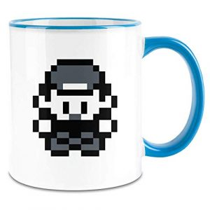Payton Clothing 2D Gamer – 2D Gamer Colored Handle Coffee Mug – 11 Oz Ceramic Cup