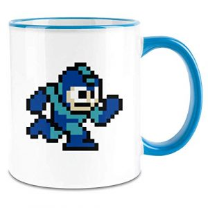 Payton Clothing Caractère de Jeu vidéo 16bit – Video Game Character 16bit Colored Handle Coffee Mug – 11 Oz Ceramic Cup