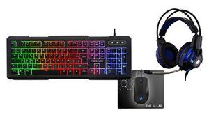 The G-Lab Combo Xenon/FR Pack Gaming Clavier, Casque, Souris et Tapis de Souris
