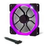 EMPIRE GAMING – Boîtier PC Gamer Warmachine – Moyenne Tour ATX – 4 Ventilateurs Silencieux – LED RGB Dual Ring: rétroéclairage 11 Modes – Façade et paroi en Verre trempé