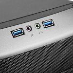 SilverStone SST-RL05BR-W – Red Line Boîtier PC Gamer moyen tour ATX, Haute performance du flux d'air silencieux