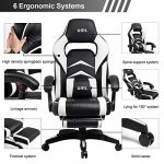 Umi. Essentials Chaise de bureau ergonomique Gaming Chaise avec repose-pieds rembourré Blanc