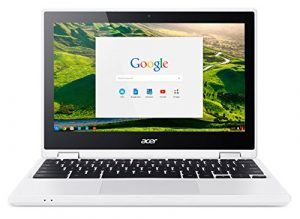 Acer Chromebook CB5-132T-C8VM Ordinateur 2-en-1 Tactile 11″ HD Blanc (Intel Celeron, 4 Go de RAM, Mémoire 32 Go, Intel HD Graphics, Chrome OS) Ancien Modèle