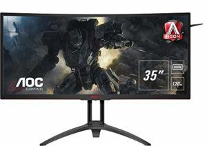 AOC Agon AG352UCG6 – Ecran Gaming 35″ incurvé 120 Hz avec G-Sync & Shadow Control