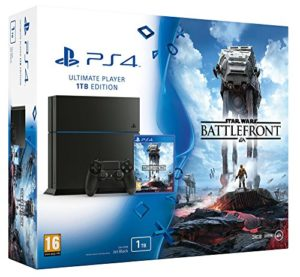 Console PlayStation 4 1 To Jet Black + Star Wars : battlefront