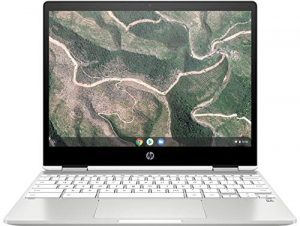 HP Chromebook x360 12b-ca0005nf PC Portable 12 » FHD IPS Blanc (Tactile, Intel® Celeron® N4000, 4 Go de RAM, 32 Go de Stockage, Carte graphique Intel® UHD 600, AZERTY, Chrome OS)