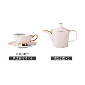 HRDZ Tasse à café en Porcelaine et Soucoupe Pot Dessert Plate Western Snack Plate Set Mug