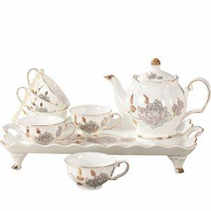 HRDZ Tasse à café Ensemble de thé Maison Simple créative Moderne thé Coffret Cadeau de Mariage Un Ensemble de 8 pièces 175ml