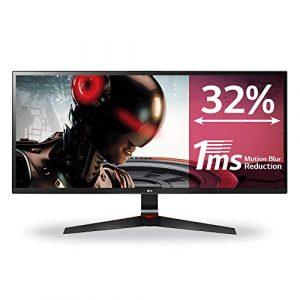 LG 34UM69G-B Écran PC LED IPS – 34» – 21:9 – 2560 x 1080 – 250cd/m² – 5 ms – Noir (HDMI, DP, USB-C) – Haut-parleurs Intégrés