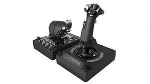 Logitech G X56 HOTAS Système 3M avec Commande des Gaz RVB et Joystick, 6 DOF, 4 Options de Ressort, +189 Commandes Programmables, RVB – Noir