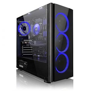 Megaport PC Gamer – AMD FX-8300 8×4.20 GHz Turbo • GeForce GTX1050Ti • 16Go DDR3 • 1To • Windows 10 • Unité Centrale Ordinateur de Bureau PC Gaming PC Ordinateur Gamer