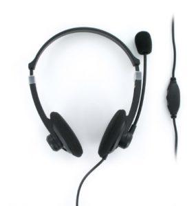 Mobility LAB – ML300719 – Casque STEREO HEADSET 250 (1.20M) avec micro intégré et serre tête réglable fréquence 20Hz-20 kHz et 32 ohms avec une puissance de 20mW – Entrée jack 3.5mm – Compatible avec PC lecteur MP3 et jeux vidéo / Gris