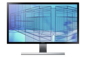 Samsung U28D590DS Ecran PC Gamer dalle TN 28″ (71,12 cm) 3840 x 2160 pixels 1 m 2xHDMI/DisplayPort/Sortie Casque