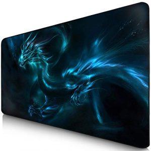 Sidorenko Tapis de Souris Gaming XXL | Gaming Mousepad | 900 x 400 mm | Surface spéciale améliore la vitesse et la précision | Base en Caoutchouc Antidérapant Surface | bleu