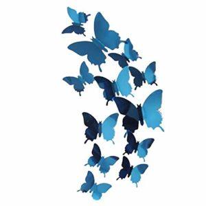 Viewk Stickers Muraux de Papillons 3D DIY Autocollants Décoration Murale Amovible Réutilisable pour Chambre Salon