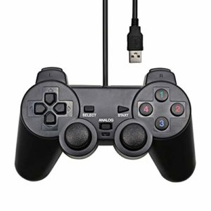 ZTT Gamepad Controller Interface câble USB pour WinXP / Win7 / Win8 / Win10 pour Ordinateur Portable Noir Gaming Joystick,A