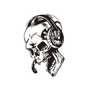 Fablcrew Stickers Muraux Nouveaux Créatifs Stickers Autocollants Muraux Musique de Crâne Casque Décalque jeu Vidéo Décoration Murale Papier Peint