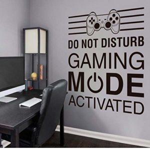 Grand Game Zone Wall Sticker Gamer Citation Sticker Pour La Maison Gaming Contrôleur Salle de Jeu Vidéo Garçon Chambre Décor Jeu Murale 67x57cm