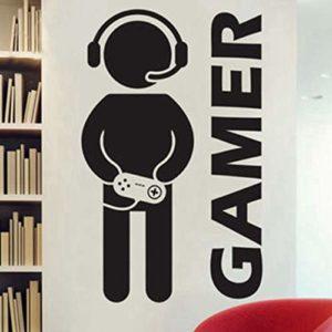 guijiumai Jeu vidéo Sticker Mural Gamer Joystick Wall Decal Art 144x88cm