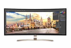 LG 38UC99-W Ultrawide Écran PC LED IPS incurvé – 37.5″ – 21:9 – 3840 x 1600 – 300 cd/m2 – 1000:1 – 5 ms – Argent (2xHDMI, DisplayPort, USB 3.0)