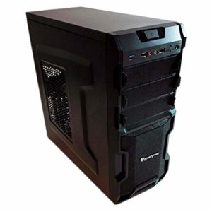 Powergreen CAJ-00930-GAM Boîtier PC Gaming Ekans Noir Mat