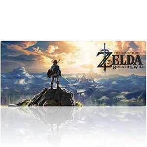 Tapis de Souris The Legend of Zelda Gaming XXL Super Grande Taille Beyme Gaming Mouse Pad 900x400x2 mm Mousepad Tapis Clavier (90×40 zelda021)