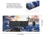 Tapis de Souris The Legend of Zelda Gaming XXL Super Grande Taille Beyme Gaming Mouse Pad 900x400x2 mm Mousepad Tapis Clavier (90×40 zelda021)