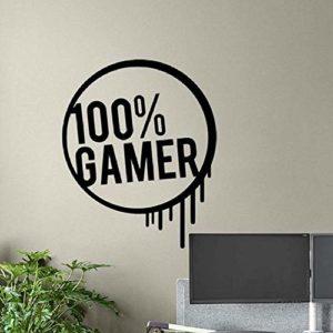 69X57 Cm Gamer Wall Decal Gamer Affiche Gaming SignPlayroom Vinyl Sticker Home Mural Gamer Video Bedroom Decor