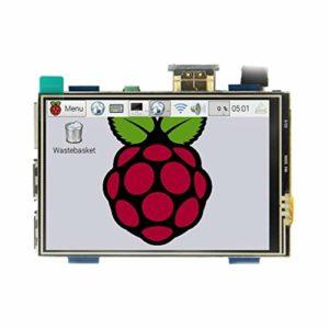 B Blesiya Moniteur à Écran Tactile 480×320 HDMI 3.5 Pouce pour Raspberry Pi