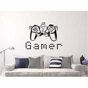 Contrôleur De Jeu Wall Sticker Kids Boys Fashion Bedroom Decor Wall Sticker Gaming Poster Stickers Muraux 42X56Cm