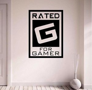 Évalué Pour Gamer Gaming Boy Room Hallway Home Decal Window Decal Amovible Vinyl Art Wall Sticker 35X50Cm
