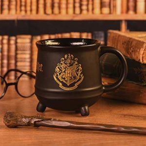 HARRY POTTER SCMG24474 Mug Chaudron en céramique-Emblème Poudlard 511ml / 18oz, Noir et doré
