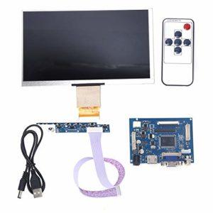 LCD carte d'affichage, LCD Moniteur Kit Module d'Affichage LCD De Moniteur HDMI VGA De 7 Pouces Lcd TFT 1024 * 600 Pour Raspberry Pi 3/2