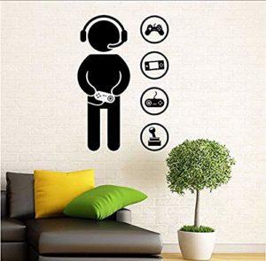 Sticker Gaming Wall Decal Jeux Vidéo Wall Sticker Home Decoration Room Interior Vinyl Sticker 58 X 87 Cm
