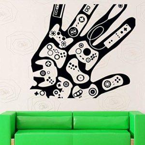 Sticker mural jeu vidéo autocollant jouer Decal Gaming Posters Gamer vinyle Stickers muraux décor Mural 58X58Cm