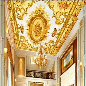 Yirenfeng Stickers Muraux Muraux Plafond Européen En Mosaïque De Pierre Haute Qualité Revêtement Mural Vidéo Pour Parquet En Pierre D'Europe-450X300CM