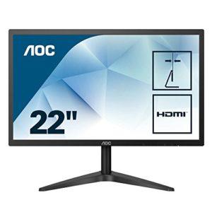 AOC 22B1H écran Plat de PC 54,6 cm (21.5″) Full HD LED Noir – Écrans Plats de PC (54,6 cm (21.5″), 1920 x 1080 Pixels, Full HD, LED, 5 ms, Noir)