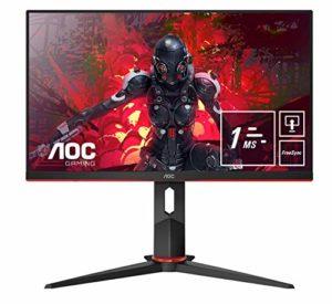AOC 24G2U5/BK écran Plat de PC 60,5 cm (23.8″) 1920 x 1080 Pixels Full HD LED Noir 24G2U5/BK, 60,5 cm (23.8″), 1920 x 1080 Pixels, Full HD, LED, 1 ms, Noir